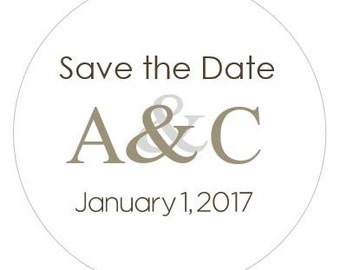 Personalized Save the Date/Wedding Labels