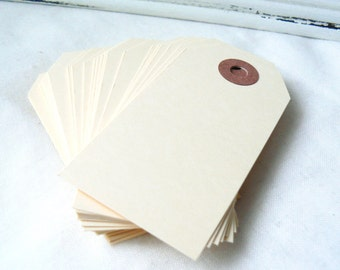 Manilla Tag - 25 Paper Tags  Cream Hang Tags, Beige Gift Tags, Coloured Tags, Parcel Tags