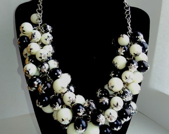handmade necklace Day and night