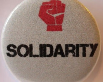 Solidarity Button Badge