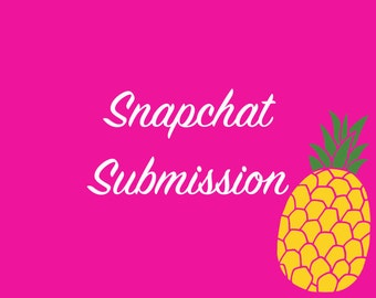 SNAPCHAT GEOFILTER SUBMISSION