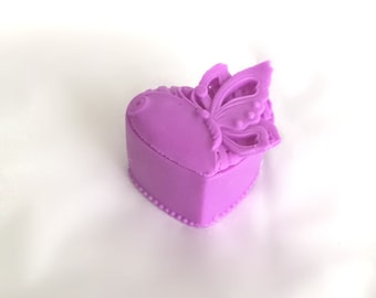 Butterfly Heart Soap