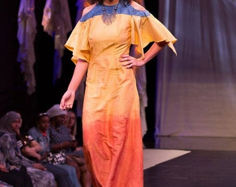 Freya Evening Dress: 100% Naturally Dyed Dupioni Silk Dress, Viking Wedding Dress