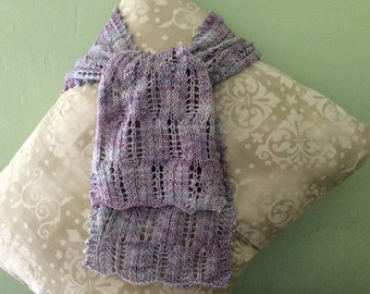 Lacey Knit Lightweight Scarf in shades of Lavender