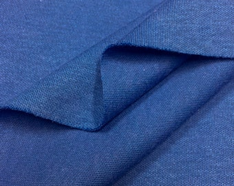 100% Cotton Interlock Knit Fabric (Wholesale Price Available By The Bolt) USA Made Premium Quality - 2430 Royal - 1 Yard