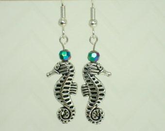 Beaded Seahorse Earrings