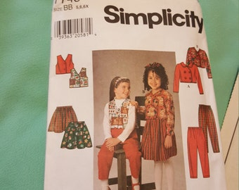 1995 Simplicity Girls  # 7745 5-6-6x CUT IN good condition