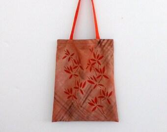 handpainted tote bag 'chinatown' orange