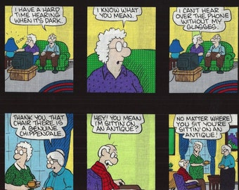Cartoon Quips,3x3-3/4 squares Timeless Treasures