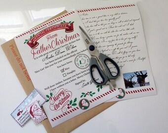 Personalised father christmas letter for boys girls custom bespoke santa