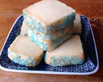 Aquamarine Jewel Classic Shortbread Cookies