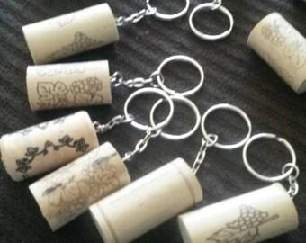 Handmade Wine Cork Keychain
