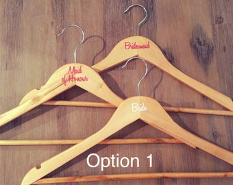 DIY Bridal Party Coat Hanger decal