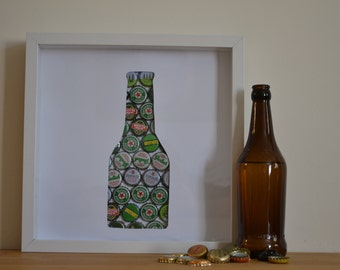 One green bottle sitting on the wall