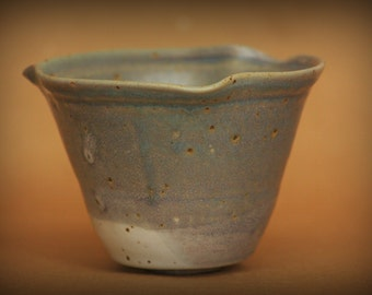 Small decorative ceramic bowl - blue grey ceramic bowl - handmade pottery bowl