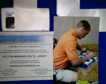 Hand Signed- Autographed Peyton Manning Jersey