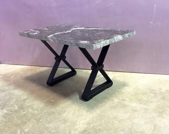 "Coffee Table Steel Legs, ""X"" Style Coffee Table Steel Legs, Set of 2 Legs"