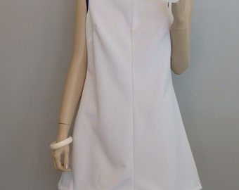 Vintage Tennis Golf Sleeveless Dress Mini Dress Sundress S-M