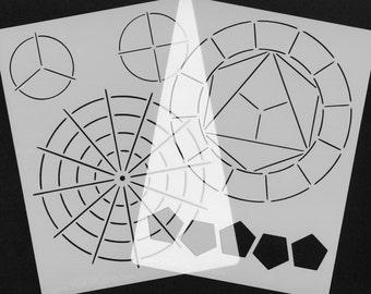 Colour Wheel Stencils (set of 2)