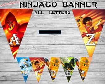 Ninjago banner,Ninjago invitation , Ninjagoparty, Ninjago birthday -Ninjago printable,  Instant Download