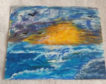 Ocean painting.