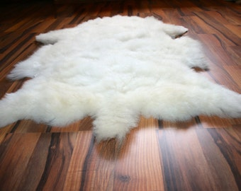 New Luxurious Organic Sheepskin Rug White XL