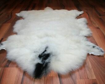 New Luxurious Organic Sheepskin Rug Brown/Grey XL