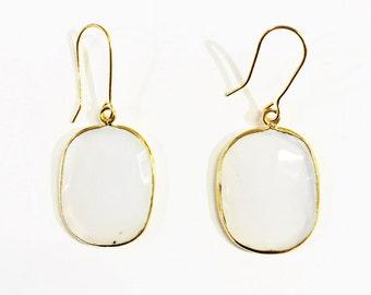 Calcedoney vermeil earring