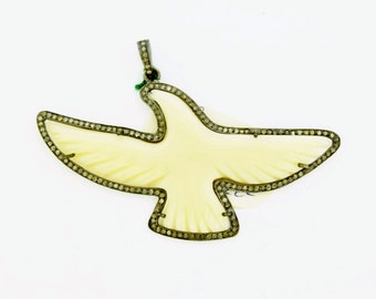 Pave Diamond Egel pendant