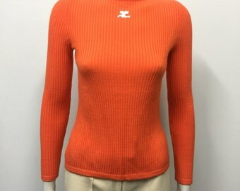 Andre Courreges long sleeve knit top