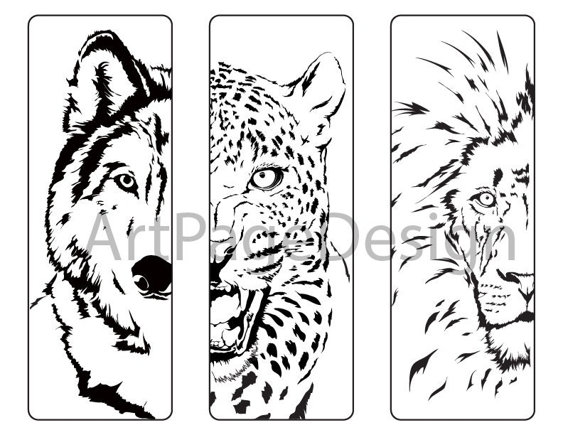 Oloring Pages Animals Wolf Cheetah Lion Coloring