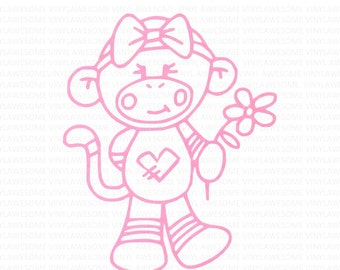 Girl sock monkey girl