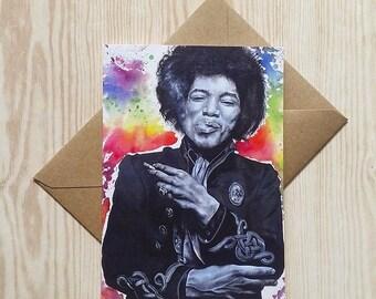 Hendrix - Greetings Card