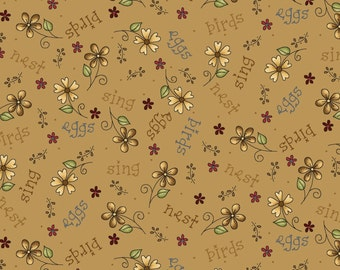 Among the Flowers by Red Rooster Fabric Floral Fabric Quilting Cotton Fabric