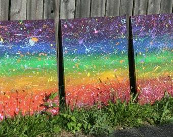 Abstract Rainbow Painting - Abstract - Painting - Acrylic - Art - Artwork - Home Decor - Rainbow - Abstract Art