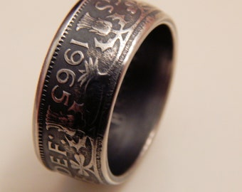 2 Shilling Handcrafted Coin Ring