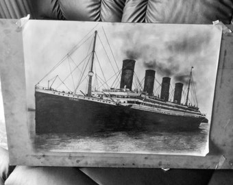 RMS Titanic graphite drawing