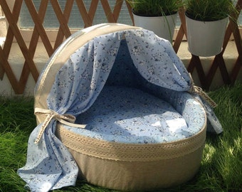 Designer luxury handmade soft pet bed, suitable for dogs & cats. In stock now