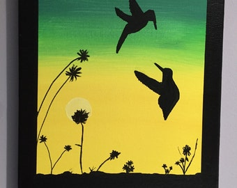 Dancing Humming Birds