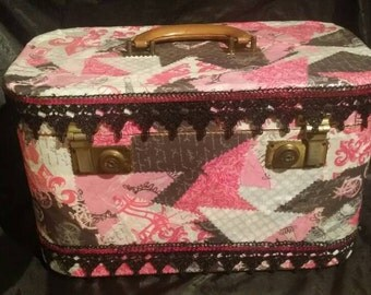 Custom Decorated Train Case