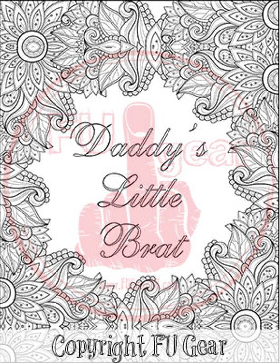 brat coloring book pages - photo#43