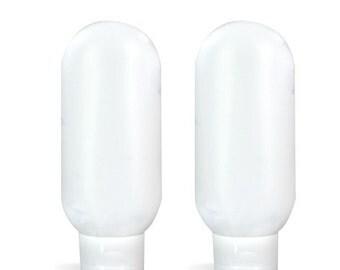15 ml Natural Malibu Bottles Flip Top Lid, Squeeze bottle, sunscreen bottle, lotion bottle, travel size, squeeze bottle with flip top 4 pk.