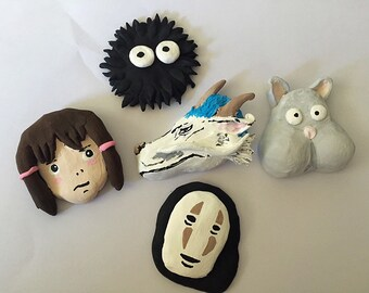 Spirited Away Handmade Clay Magnet Set