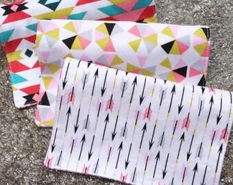 Girl's Organic Burp Cloth Set - Pink Burp Cloths Organic Cotton Burp Cloths Organic Baby Gift Pink Gift Set Pink Organic Burping Cloths