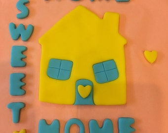 New Home/Welcome Home/Home Sweet Home Cake Toppers