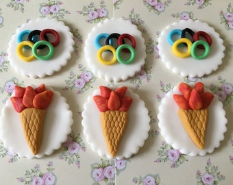 Olympic #6 Cupcake & Cake Toppers