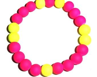 Neon Pink/Yellow Bracelet