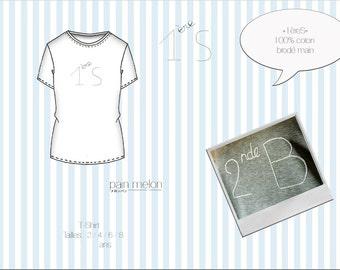 "t-shirt children ""1èreS"" (classroom number)"