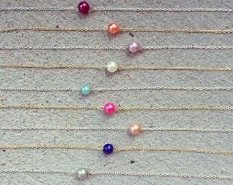 Simple single bead chained choker