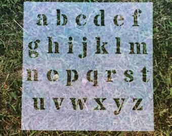 Lower Case Alphabet | Reusable Stencils | Custom Stencil | Custom Stencils | Ready to use | Get Ready to Paint! |